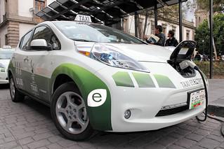 Taxis eléctricos en la Ciudad de México