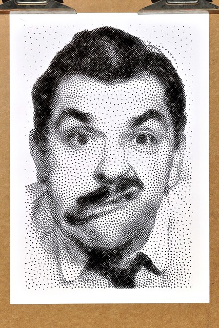 Ernie Kovacs StippleGen Polargraph Drawing