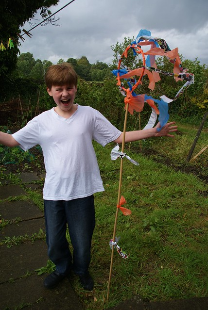 Midsummer wind sock crafting