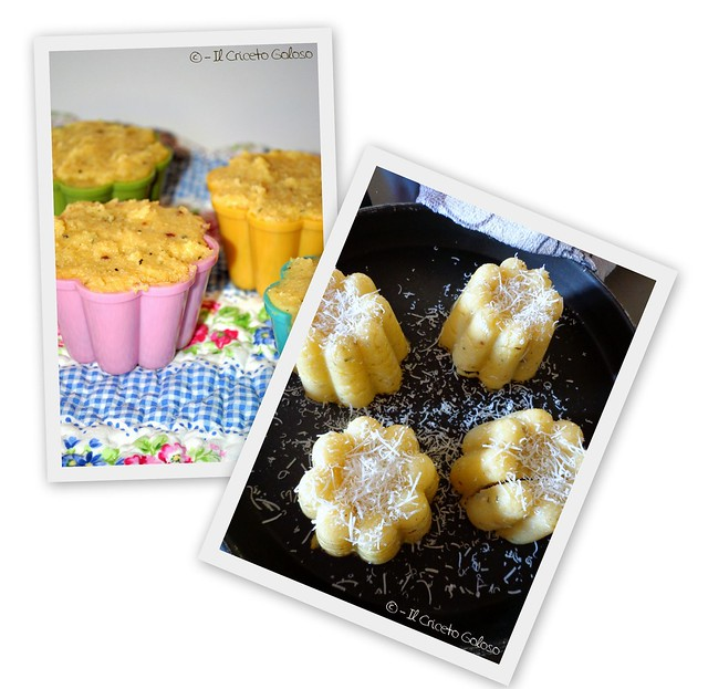 Sformatini di polenta allo speck ripieni