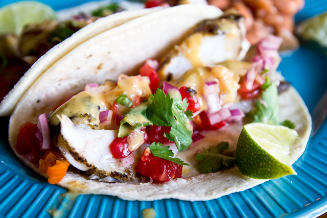 Margarita-glazed Fish Tacos
