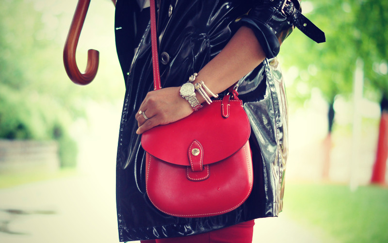 Red Crossbody Satchel