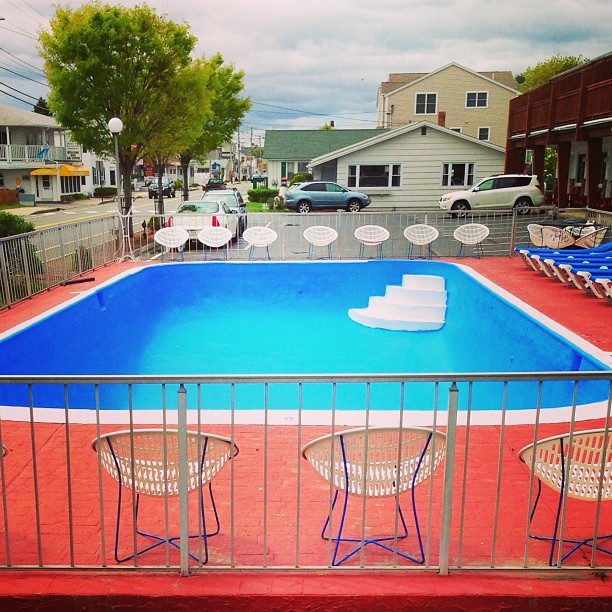Motel pool, Old Orchard Beach