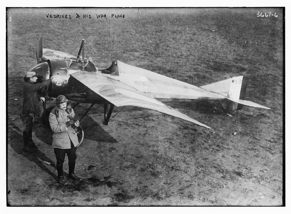 Vedrines and His War Plane  (LOC)