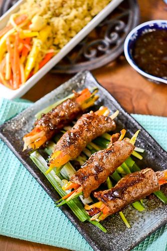 Balsamic Glazed Steak Rolls | Full Fork Ahead