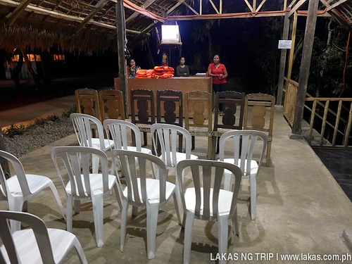 Waiting area at Iwahig Firefly Watchin in Puerto Princesa, Palawan