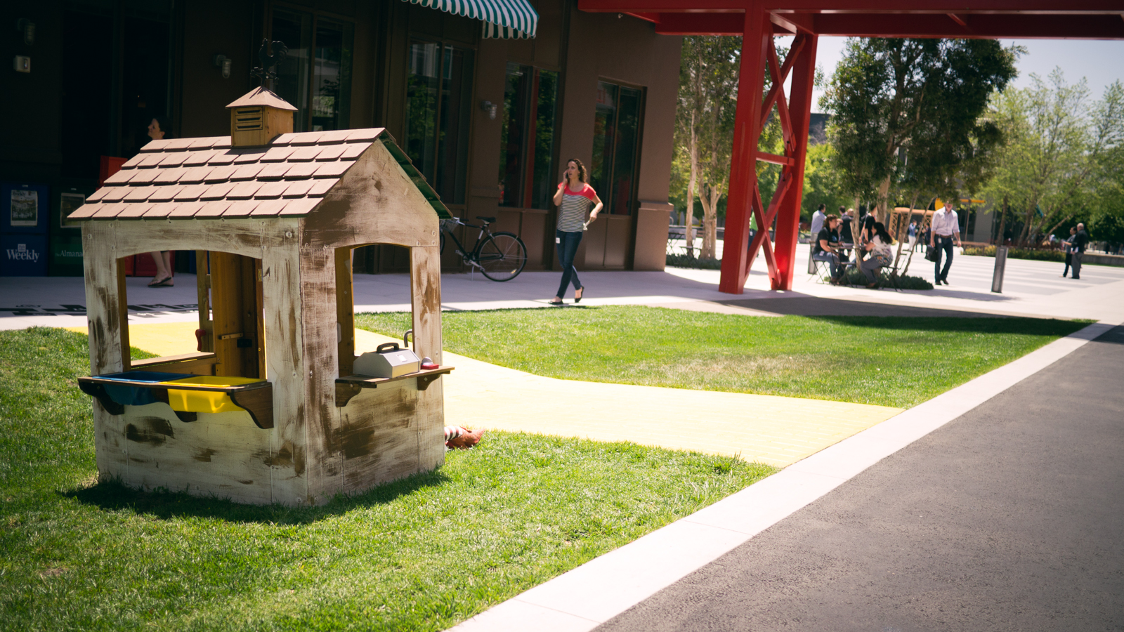 A tiny house at Facebook HQ