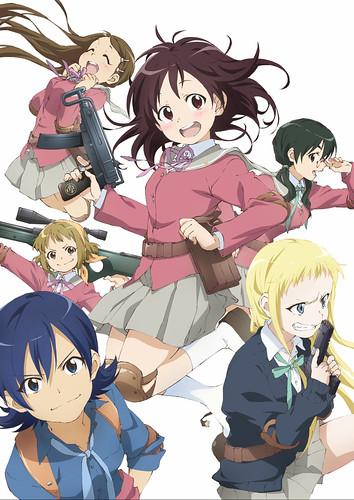 130611(2) - 美少女野戰生存遊戲動畫《ステラ女学院高等科C3部》將在7/4首播,第二張海報出爐!