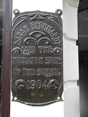 Photo of Sarah Bernhardt bronze plaque