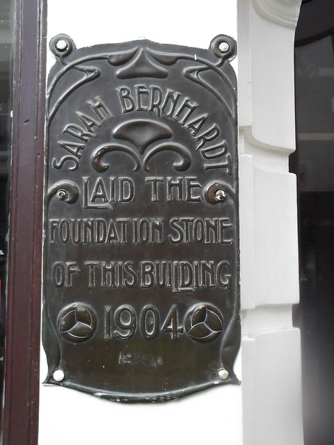 Photo of Sarah Bernhardt bronze plaque