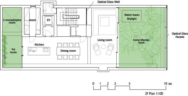 Photo:中村拓志 Hiroshi Nakamura & NAP建築設計事務所 - Optical Glass House - Drawings 03 - 2F Plan 平面圖.jpg By 準建築人手札網站 Forgemind ArchiMedia