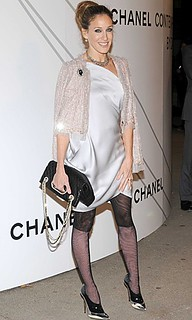Sarah Jessica Parker Patterned Tights Celebrity Style Women's Fashion