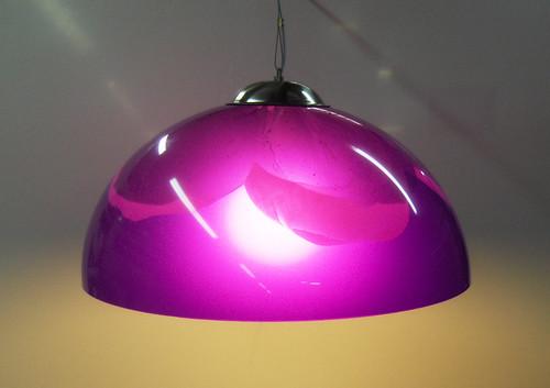 Lampara de Acrilico Colgante  Violeta Flor by Ludica Iluminacion