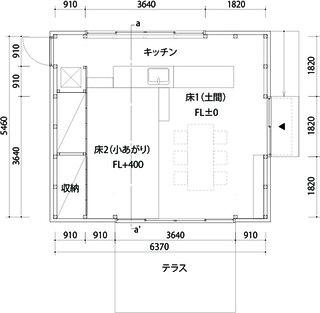 仮設カフェ平面図