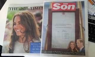 Sun and times cover royal birth