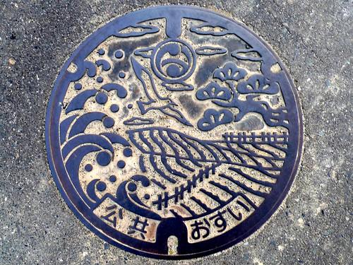 Hamaoka Shizuoka , manhole cover (静岡県浜岡町のマンホール)