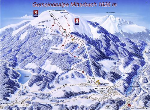 Gemeindealpe - mapa sjezdovek