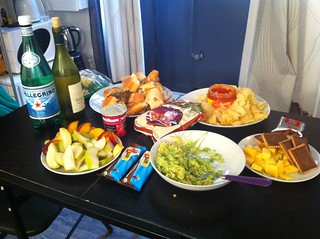 dinner we made in our flat in Paris