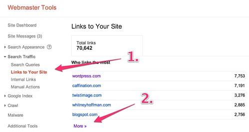 Webmaster Tools - Links to Your Site - http://www.christopherspenn.com/