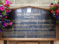 Photo of The Guild Chapel black plaque