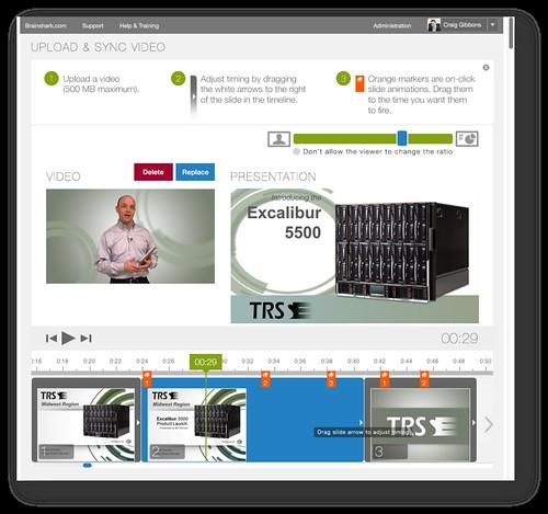 Brainshark's VideoSync Editor