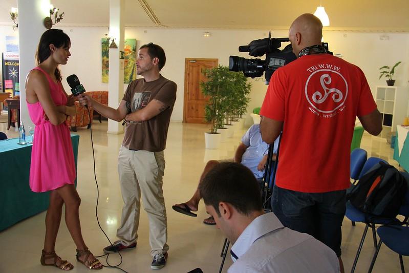 Rueda de prensa del III Campus Internacional Canarias Sincro en Sands Beach Resort