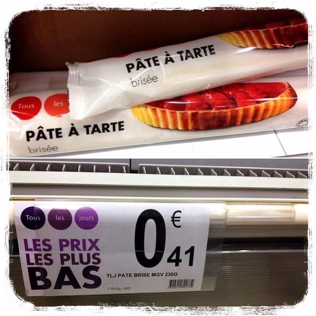 Pasta brisa en Francia