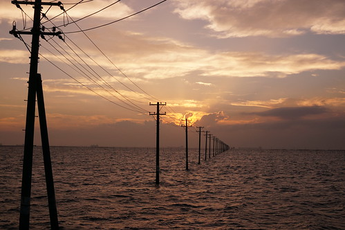 utility poles into the sea 03
