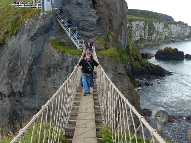 Meself on The Carrick-a-Rede Rope Bridge
