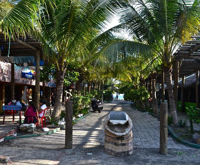 Main Street of Monterrico, Guatemala
