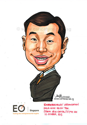 Mr Keith Tan caricature for EO Singapore