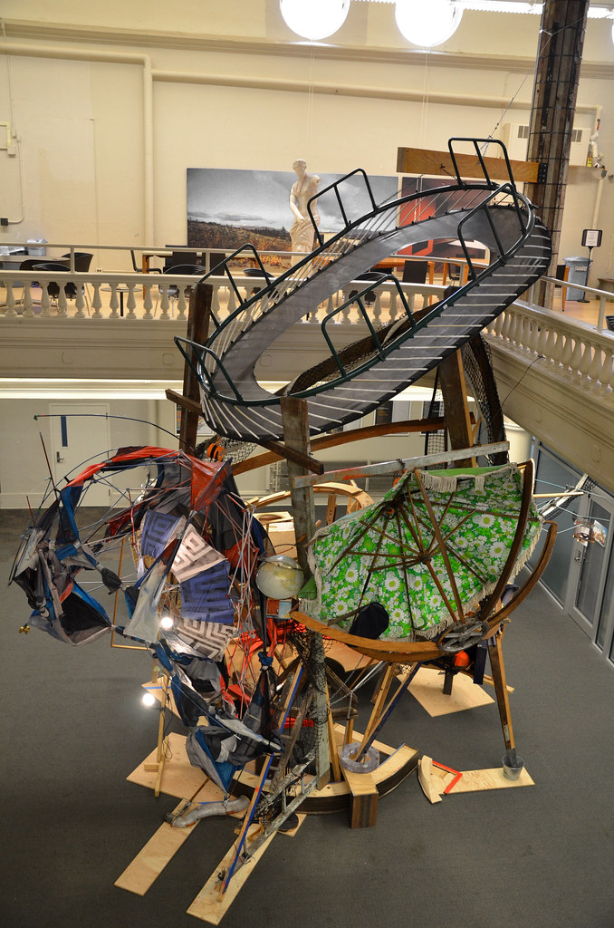 <em>Common Cosmos: 287 F-14853</em>, by Buffalo artist and architect Dennis Maher (B.Arch. '99) on display in Sibley Dome.