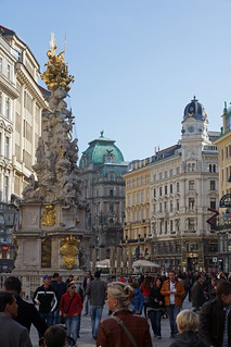 Image of Pestsäule. vienna wien city autumn fall geotagged austria photo österreich high flickr downtown foto image sony herbst picture historic hires cc stadt resolution jpg alpha bild jpeg geo altstadt 77 stockphoto bezirk 2013 77v slta77