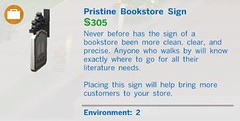 Pristine Bookstore Sign