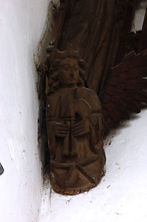 March, Cambridgeshire, St. Wendreda's church, north aisle roof, musical angel