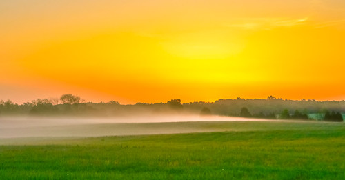 colors fog landscape dawn virginia