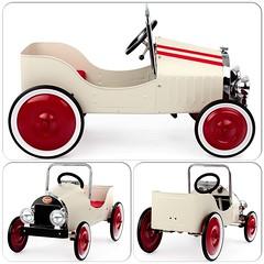 Ny trampbil från franska Baghera - Classic Blanche! Charmig design i 1930-tals stil. Lämplig för barn i åldern 3-6 år. #trampbil #pedalbil #retro #plåtbil #baghera #leksaker #doppresenter #smultronbyn
