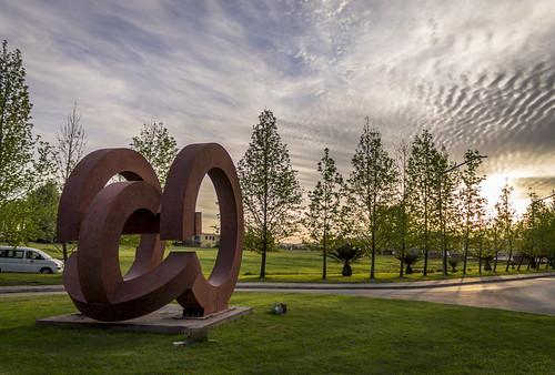 estatua millenium landscape sunset atardecer spring utalca talca