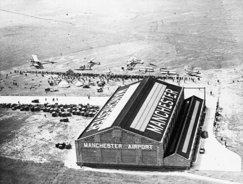 Aviation, Barton, Manchester Airport, National Aviation Day, Sir Alan Cotham's visit, aerial view, Manchester 10/06/1932
