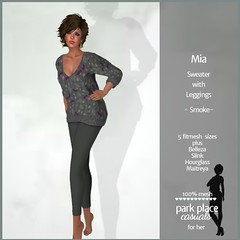 [PP Casuals] Mia Fall Sweater and Leggings - Smoke