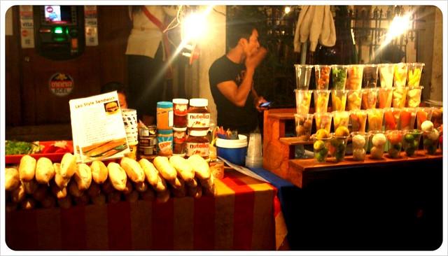 luang prabang night market baguettes