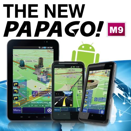 Papago! M9 GPS Navigation Software For Android and Windows Mobile