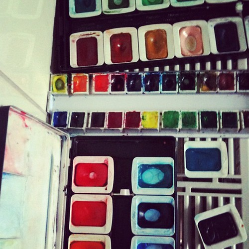 Cleaned all my watercolor paintboxes #12on12th #12von12