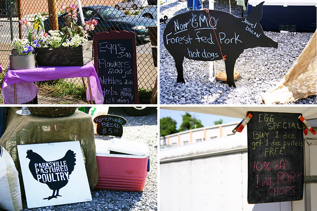chattanooga main st farmers market chalk boards