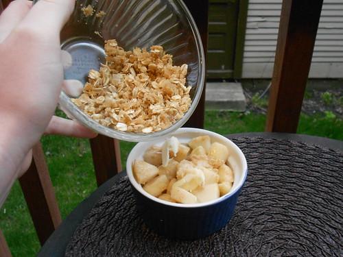 Pear crisp topping!
