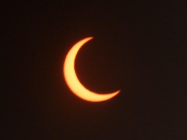 Sun viewed through eclipse glasses