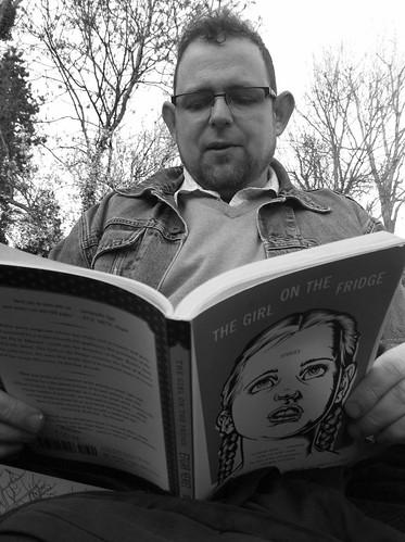 Gus Reading Etgar Keret_B&W by Read Me Something You Love