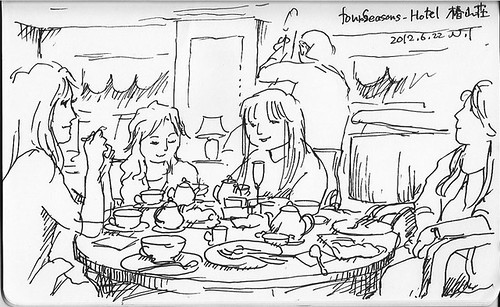 フォーシーズンズホテル・椿山荘にて at Four Seasons Hotel Tokyo at Chinzan-so by Natsumi Tsuchida