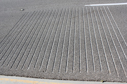 Grooves in a musical road