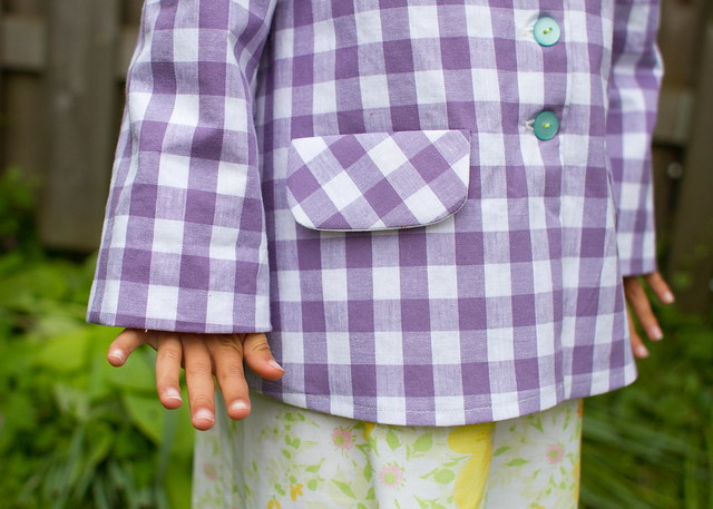 gingham swing jacket